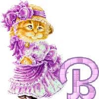 Watch and share Lady Cat Kitty Alphabet Katze Chatte Gato Gata Animated Gif animated stickers on Gfycat