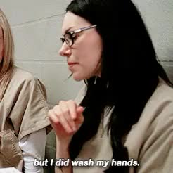 Watch and share Orange Is The New Black GIFs and Wash Hands GIFs on Gfycat