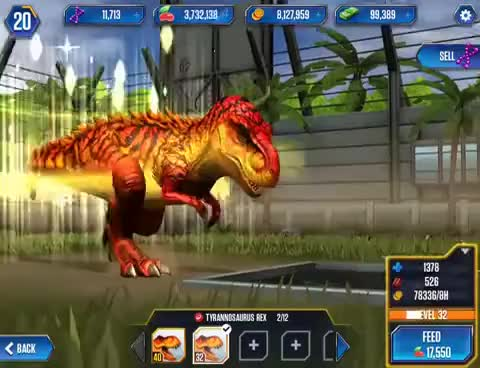 Watch and share Jurassic World - The Game [T-Rex] Level 40 GIFs on Gfycat