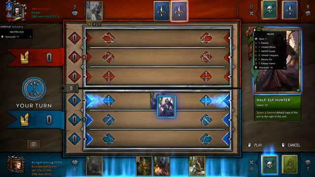 Watch Perfect Answer GIF by KingNothing2000 (@kingnothing2000) on Gfycat. Discover more Gwent, Gwent Moments, Gwent: The Witcher Card Game, King, King Nothing, Moments, Nothing, Nothing but King Moments GIFs on Gfycat