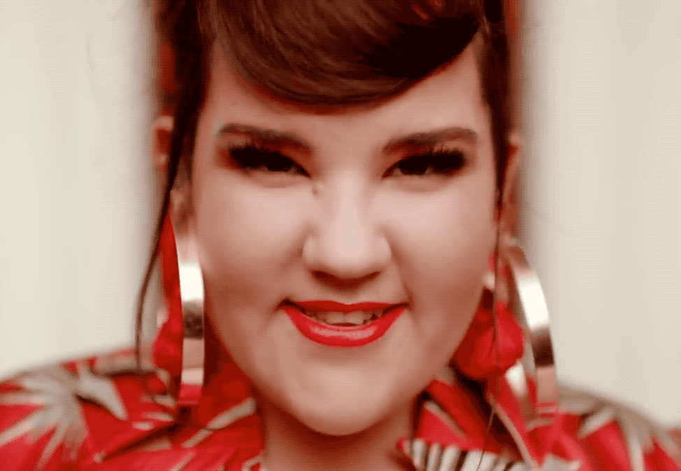 aw, awww, blush, blushing, cute, embarrassed, embarrassing, eurovision, flattered, israel, laugh, nervous, netta, shy, smile, sweet, toy, uncomfortable, win, winner, Netta - Toy GIFs
