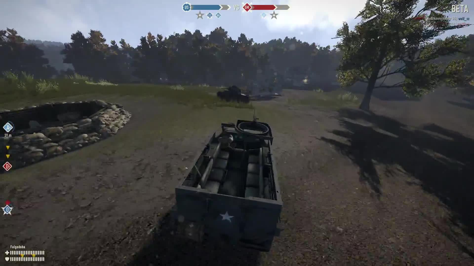 gamephysics, heroesandgenerals, Truck versus Very Light Tank GIFs