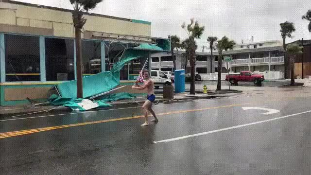 Watch and share This 'MURICAN During Hurricane Florence GIFs on Gfycat