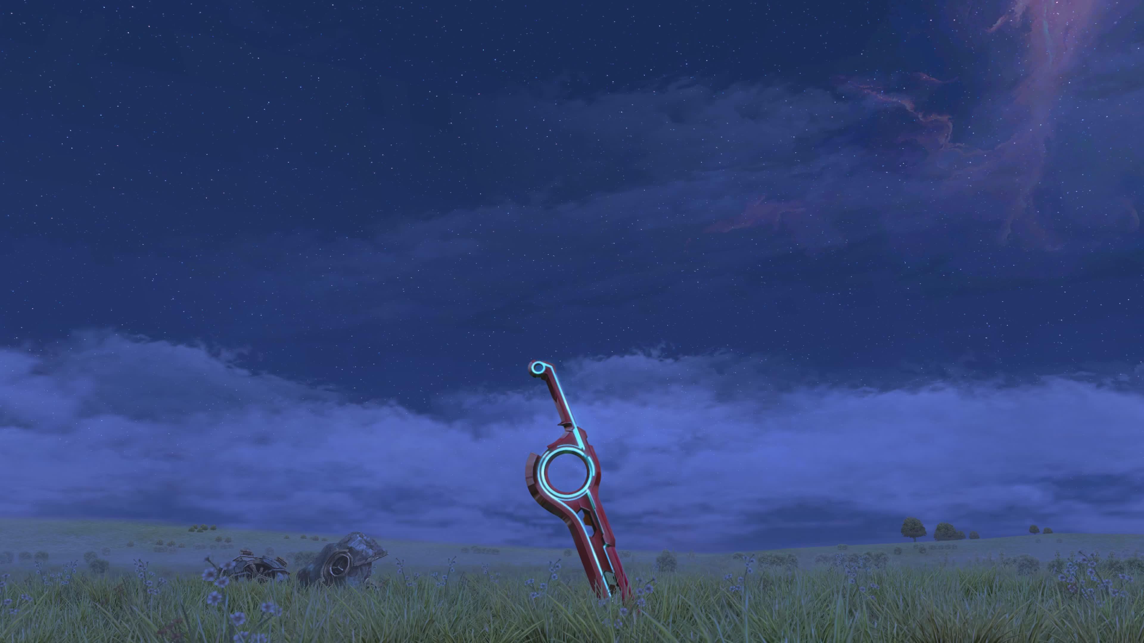 Gaming, frinalal, Xenoblade Chronicles start screen loop 4K GIFs