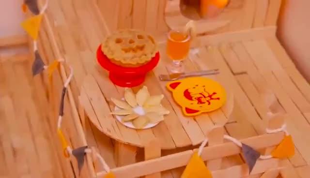 dessert, food, pie, 🎃 Pumpkin Pie   HAMSTER KITCHEN 🎃 GIFs