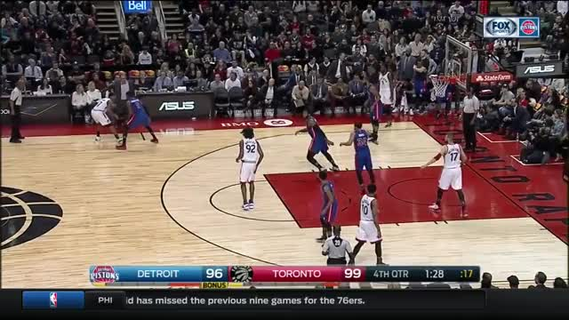 Watch Detroit Pistons  Toronto Raptors (12.02.2017) GIF by @whitehops on Gfycat. Discover more related GIFs on Gfycat