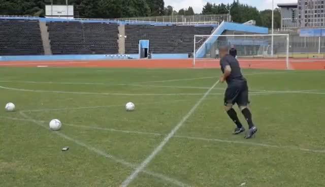 Watch and share Freekickerz Vs Roberto Carlos ⚽ Free Kick Shootout GIFs on Gfycat