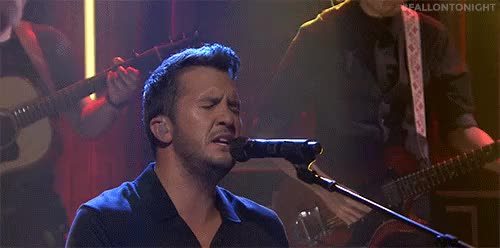Watch this GIF on Gfycat. Discover more Celes, Country, FallonTonight, Luke Bryan, Music, Television, Tonight Show GIFs on Gfycat