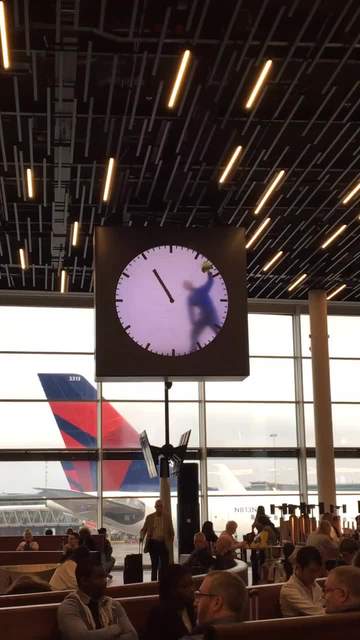 The clock in the airport, Amsterdam GIFs