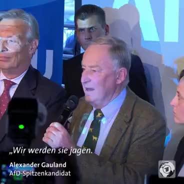 """Watch Gauland von der AfD: """"Wir werden Frau Merkel jagen"""" GIF on Gfycat. Discover more related GIFs on Gfycat"""