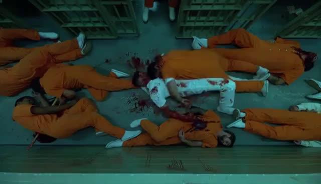 charlie cox, daredevil, frank castle, jon bernthal, marvel, marvel cinematic universe, matt murdock, mcu, netflix, the punisher, The Prison Fight | Daredevil Season 2 | (2016) HD GIFs