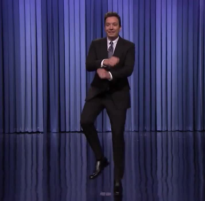 GIF Brewery, Jimmy Fallon, crazy, dance, fallon, funny, gangman, happy, jimmy, move, show, style, tonight, yoohoo, Jimmy dances Gangnam style GIFs