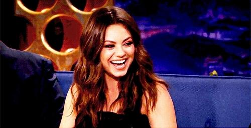 Mila Kunis, haha, hahaha, lol, Laughing GIFs