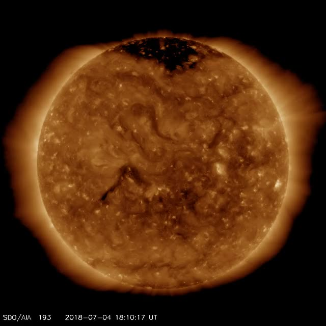 Watch and share Plasma Filament Eruptions July 5, 2018 SDO/AIA 193 GIFs by The Watchers on Gfycat