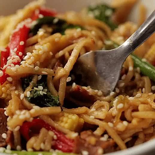 Watch Ten Veg Hoisin Noodles GIF on Gfycat. Discover more GifRecipes, vegangifrecipes GIFs on Gfycat