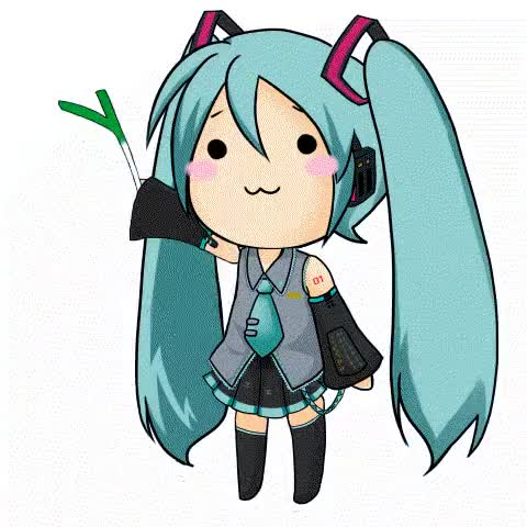 Watch and share Chibi Hatsune Miku Gambar Gerak Wow GIFs on Gfycat