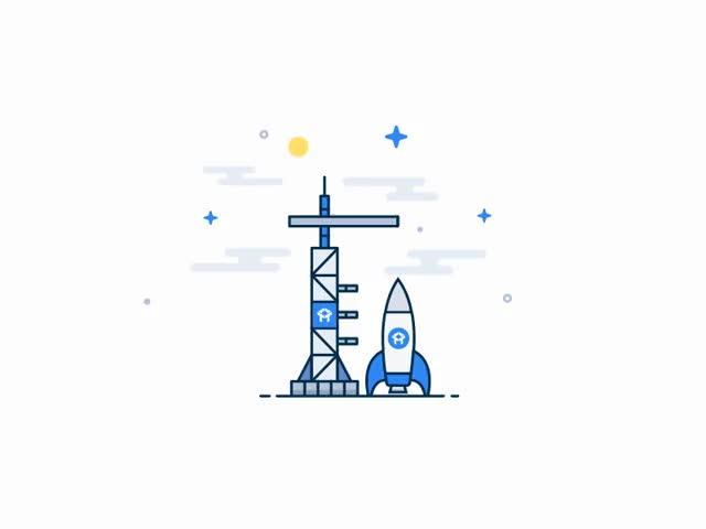 Watch and share Assembling Rocket Dribbble GIFs on Gfycat