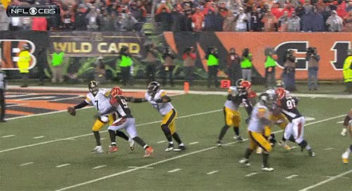 Watch and share Vontaze Burfict Knees Ben Roethlisburger After Sacking Him GIFs on Gfycat