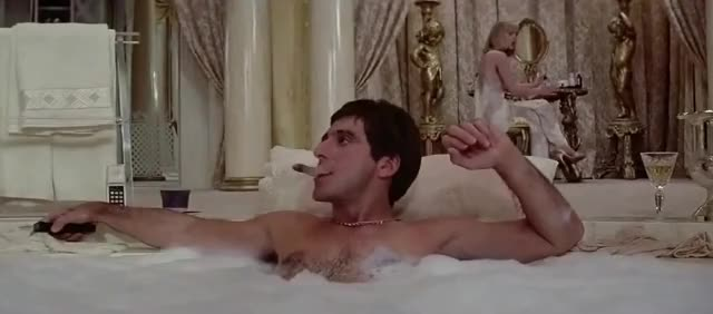 Watch this al pacino GIF by The GIF Forge (@leahstark) on Gfycat. Discover more National Bath Day, al pacino, national bath day, scarface GIFs on Gfycat