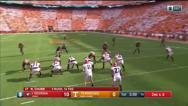 Watch and share 2017-09-30 Georgia Bulldogs Vs Tennessee Volunteers GIFs on Gfycat