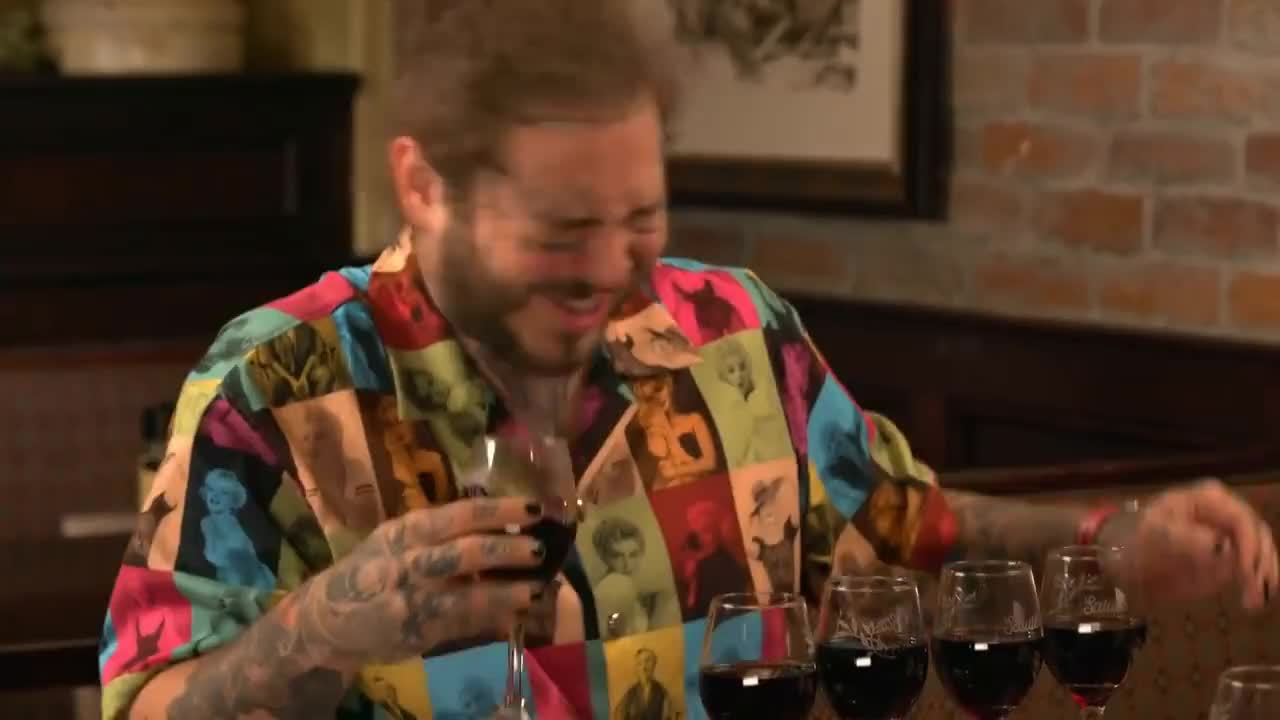 Humor, NBC, SNL, Show, Stoney, breadsticks, celebrities, clip, comedic, family, funny, highlight, humor, interview, jokes, nbc, rapper, show, snl, spider-man, stoney, talent, television, variety, video, Post Malone Takes Jimmy Fallon to Olive Garden GIFs
