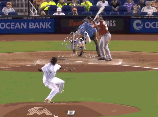 Watch and share Jose Urena GIFs and Baseball GIFs by Pitcher Giffer on Gfycat