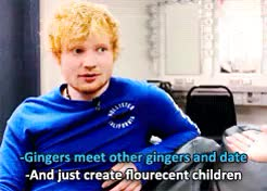 Watch and share Ginger Babies GIFs and Teddy Sheeran GIFs on Gfycat