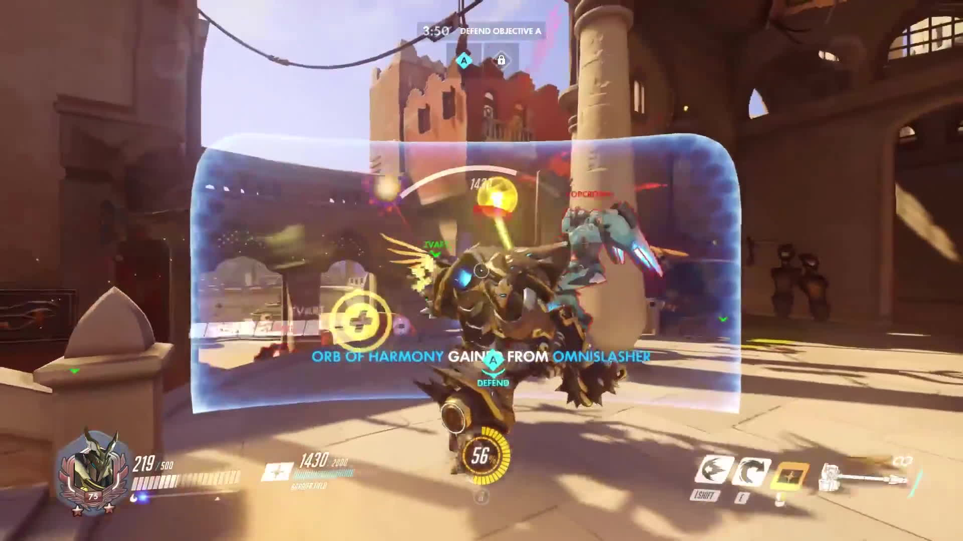noobinabox, overwatch, reinhardt, Reinhardt and Orisa accidental synergy GIFs