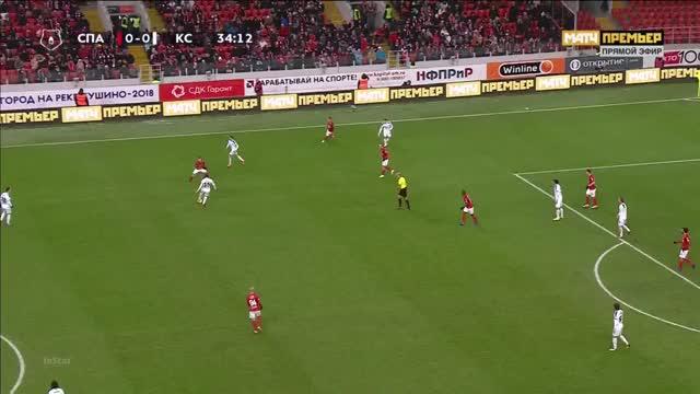 Watch and share 25.11.2018 - Spartak Moskva 3 1 Krylja Sovetov Samara - Match In Ball In Play  Mode - 1st Half, 34 21 - 34 39 GIFs on Gfycat