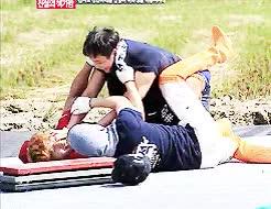 Watch battlefield :)) GIF on Gfycat. Discover more Chun Jung-myung, JaeSuk, JongKook, Kim Min Jung, ep 167, lol, running man GIFs on Gfycat