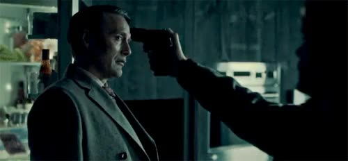 Watch and share Hannibal GIFs and Gun GIFs on Gfycat