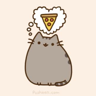 Watch and share Pusheen GIFs and Pizza GIFs by Streamlabs on Gfycat