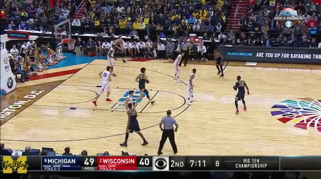 Watch and share Big Ten Tournament GIFs and Xavier Simpson GIFs by MGoBlog on Gfycat