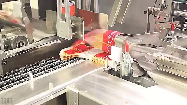 Watch and share Automated Bread Packaging Machine GIFs on Gfycat