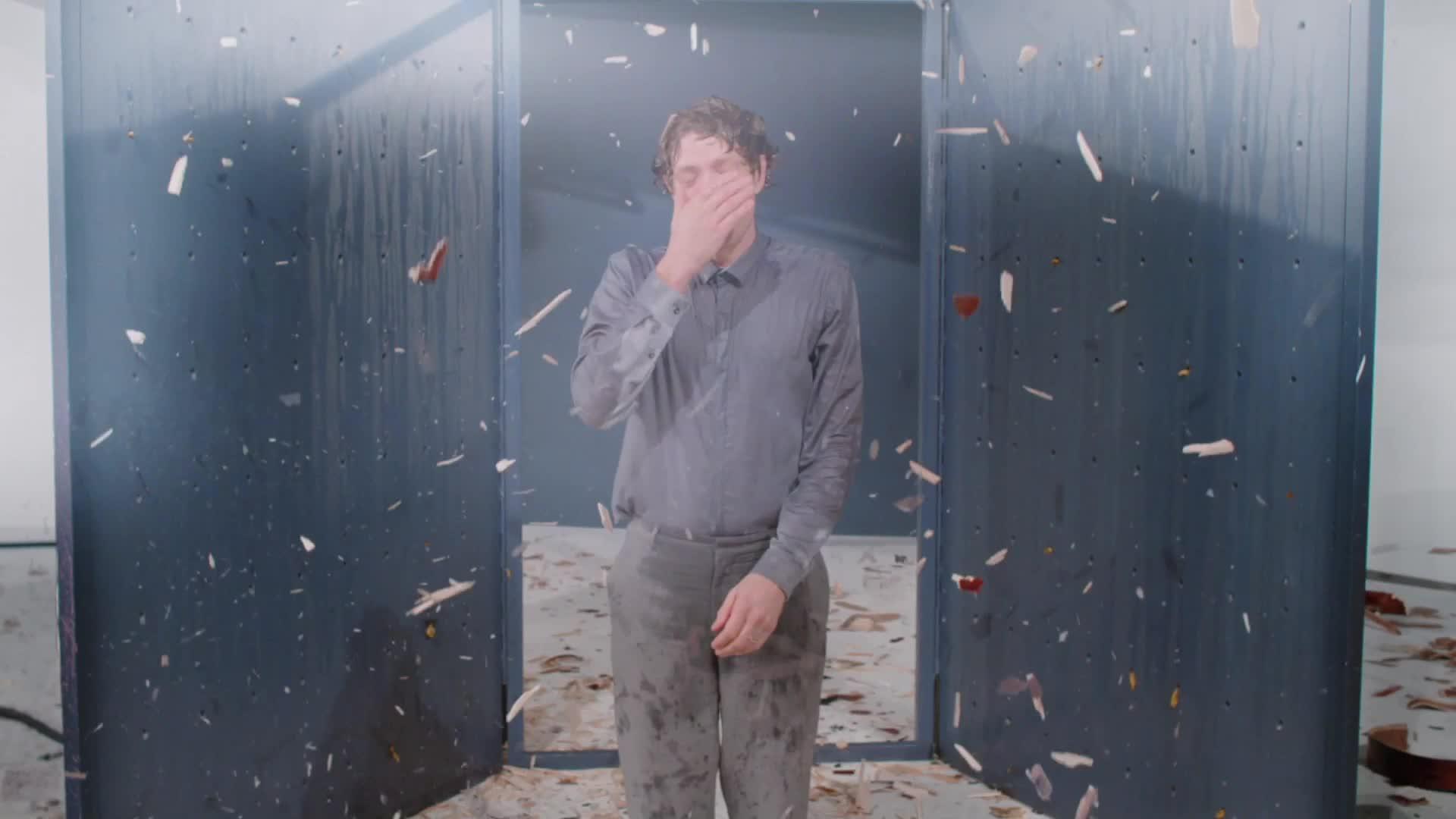 Damian Kulash, OK Go, The One Moment, moment, morton, music, okgo, one, theonemoment, Slick it back Damian - OK Go GIFs