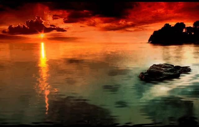 Watch and share Огонь Заката! Как Красиво!... GIFs on Gfycat