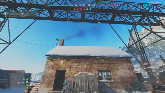 Watch and share Battlefield V Roof Snow GIFs by benji9 on Gfycat