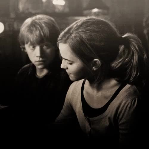 Watch and share Hermione Granger GIFs and Ron Weasley GIFs on Gfycat