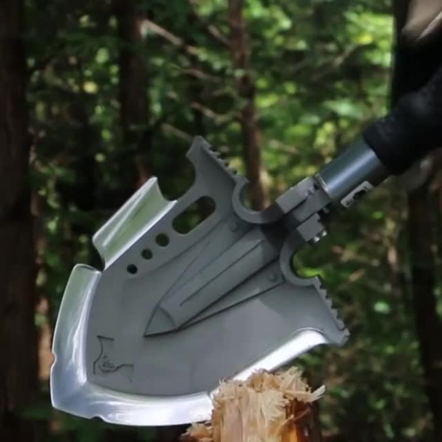 Watch and share Multi-Purpose Folding Shovel GIFs by Must Have Stuff on Gfycat
