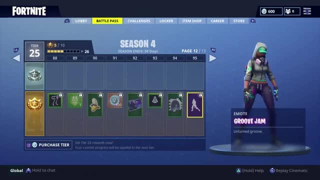 fortnite season 4 all the battle pass skins emotes harvesting tools gliders and more gamesradar - fortnite emotes season 4