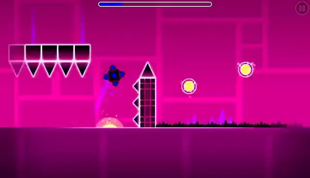 Watch and share Geometry Dash - Polargeist - All Coins GIFs on Gfycat