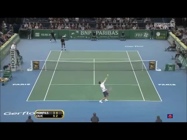 Watch and share Monfils - Cilic Hot Shot GIFs on Gfycat