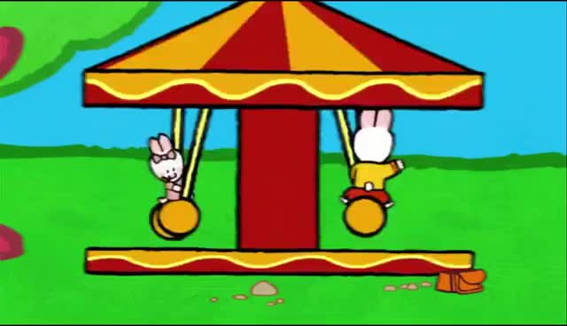 Watch and share Merry-go-round - Louie Draw Me A Merry-go-round   Learn To Draw, Cartoon For Children GIFs on Gfycat