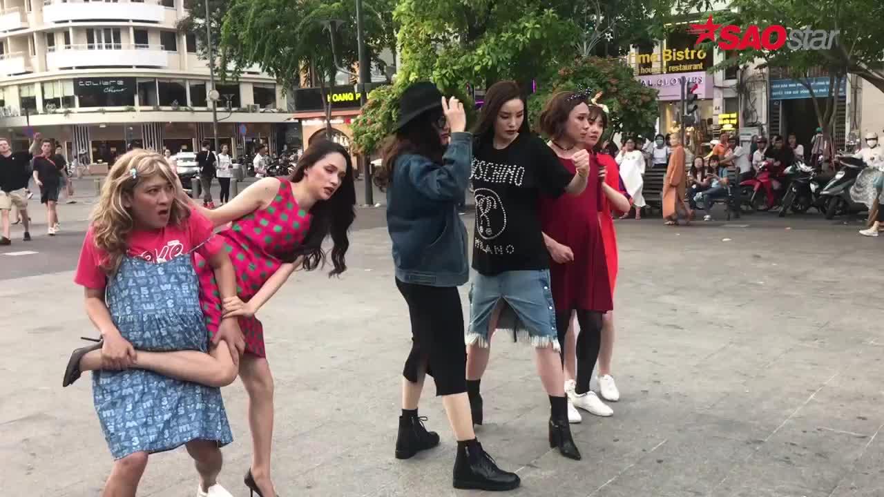 Clip độc quyền: Trường Giang thẳng tay xử đẹp Hương Giang hậu trường MV Manbirth