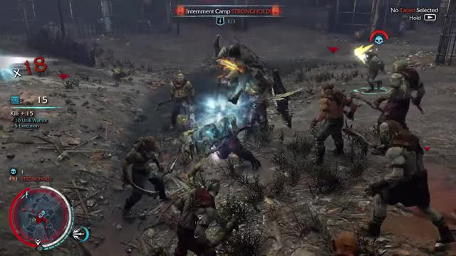 Watch and share Wraith Flash Stuns Uruks GIFs by ghostgabe81 on Gfycat