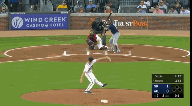 Watch and share San Diego Padres GIFs and Atlanta Braves GIFs by natewattpl on Gfycat