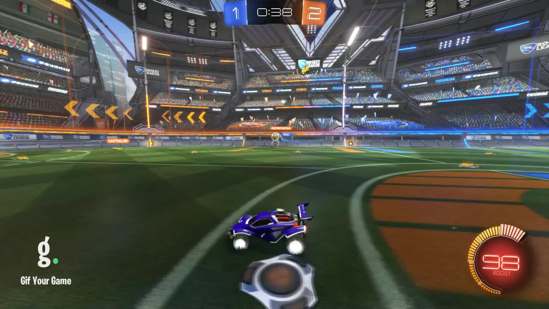 Gif Your Game, GifYourGame, Goal, Rocket League, RocketLeague, Whiff Kitty, Goal 4: Whiff Kitty GIFs