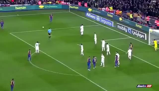 Watch and share Dani Alves AMAZING GOAL! Barcelona 2-2 Real Madrid HD GIFs on Gfycat