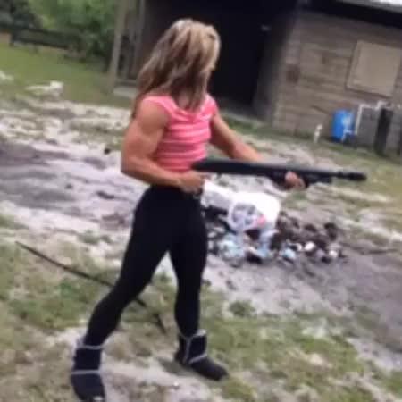 Watch Dani Reardon gun show GIF on Gfycat. Discover more related GIFs on Gfycat