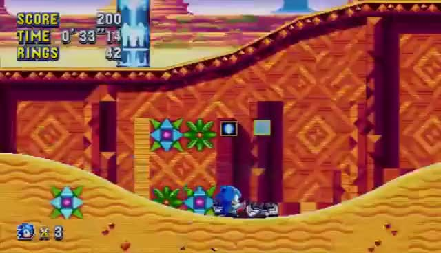 Watch and share SONIC MANIA: Mirage Saloon Zone SONIC & TAILS Gameplay (No Commentary) GIFs on Gfycat